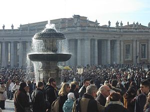 The Laity in St Peter's Square, Vatican City, ...