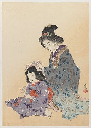 Brooklyn Museum - Woman Fixing Girl's Hair - O...