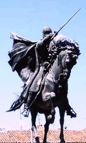Estatua del Cid, en Burgos