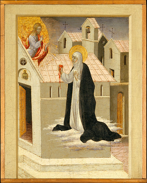 File:Giovanni di Paolo Saint Catherine of Siena Exchanging Her Heart with Christ.jpg