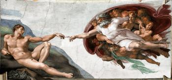 La Creación de Adán, de Miguel Ángel