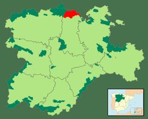 Español: Mapa que muestra la localización del ...