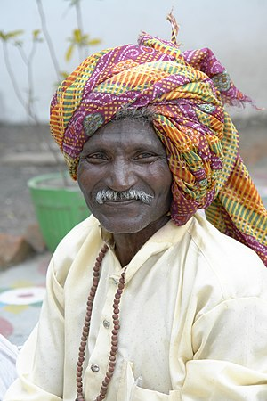 English: Man with a turban, Bhopal, India. Fra...