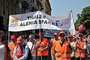 Français : Manifestation à Nice contre la réfo...