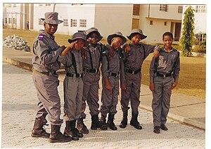 English: Nigerian boarding school students.