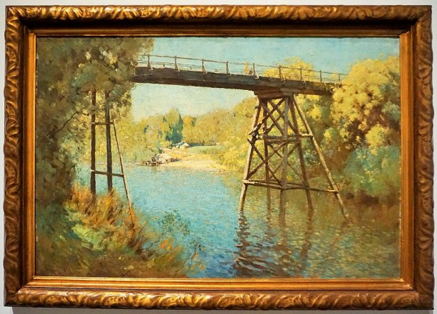 "National Gallery of Australia - Joy of Museums - ""Bridge and Wattle at Warrandyte"" by Penleigh Boyd"