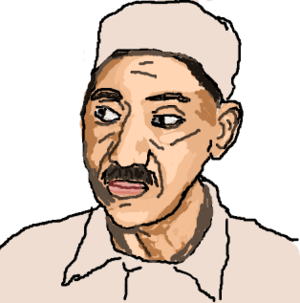 Sketch of Sayid Qutb (also Seyyid, Sayid, Saye...
