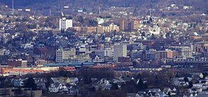 Downtown Scranton, looking East from West Moun...