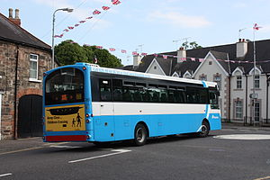 Ulsterbus turning from Belfast Road into Mill ...