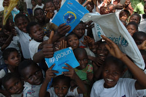 English: UNICEF Back to School programm in Congo.