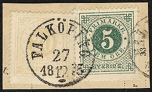 Classic stamps of Sweden on a piece