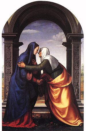 Visitation by Mariotto Albertinelli (1503) Oil...