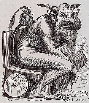 English: The demon Belphegor
