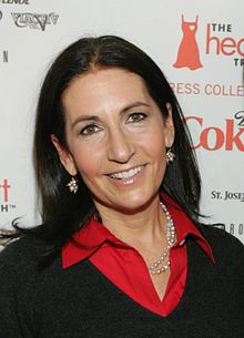 Bobbi Brown backstage at The Heart Truth fashion show in 2009