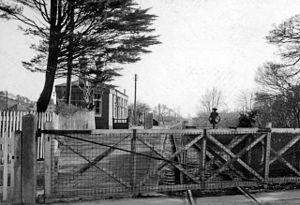 English: Bridport East Street Station (remains...