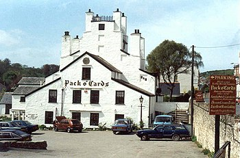 "English: Combe Martin, The ""Pack 'o Cards..."