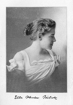 English: Portrait of Ella Wheeler Wilcox. Fron...