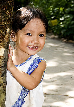 Girl in Mekong Delta