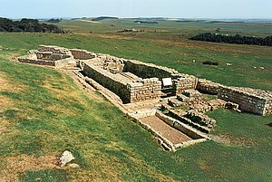 The latrines of Housesteads Roman Fort along H...