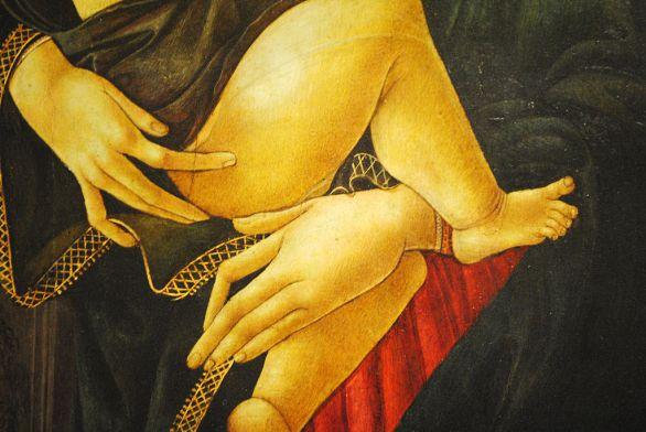 La Virgen y el Niño en un nicho, Sandro Botticelli y taller 03