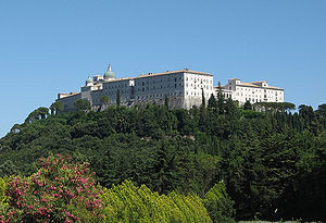 Monte Cassino Abbey from Polish cemetery