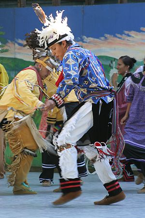 Traditional dance performance in the Iroquois ...