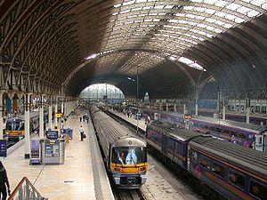 Paddington station, still a mainline station, ...