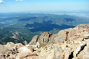 The view to the northeast from the summit of P...