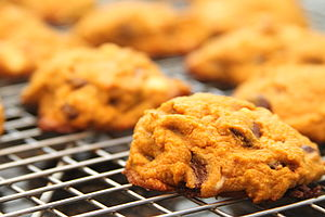 Pumpkin chocolate chip cookies.