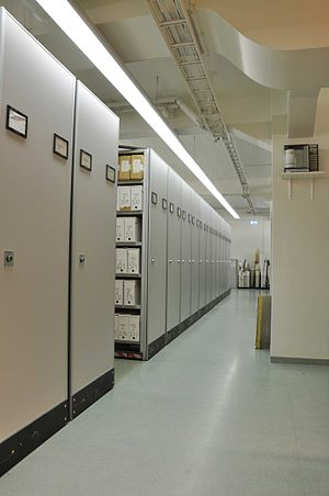 File cabinets in the Reykjavík Municipality Ar...