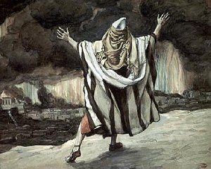 English: Abraham Sees Sodom in Flames, circa 1...
