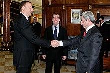 Serzh Sargsyan and Azerbaijan's Ilham Aliyev, 23 January 2012