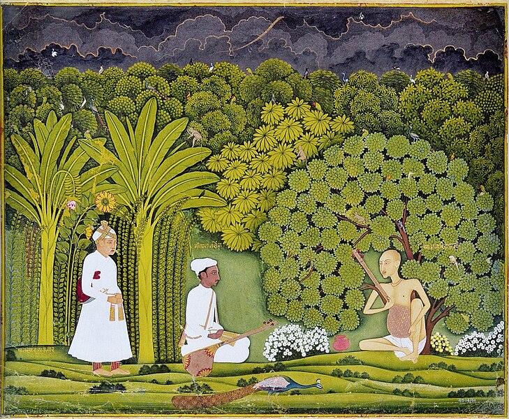 File:Akbar and Tansen visit Haridas.jpg