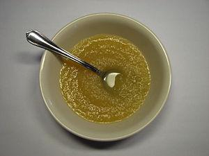 Bowl of Mott's Cinnamon Flavored Apple Sauce