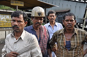 Underground coal miners of Bachra, India