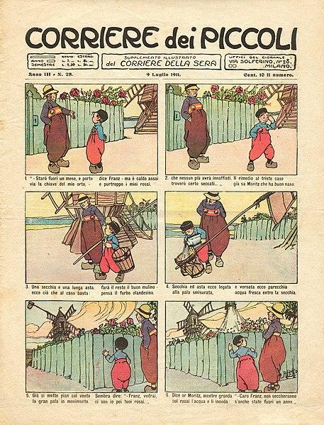 Copertina di un Corriere dei piccoli del 1911