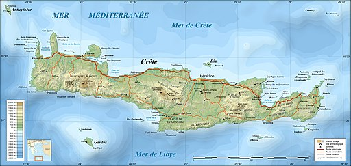Crete topographic map-fr