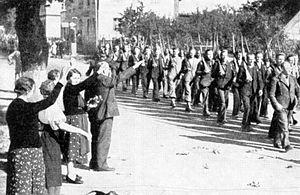 English: Sudeten German Freikorps Česky: Defil...
