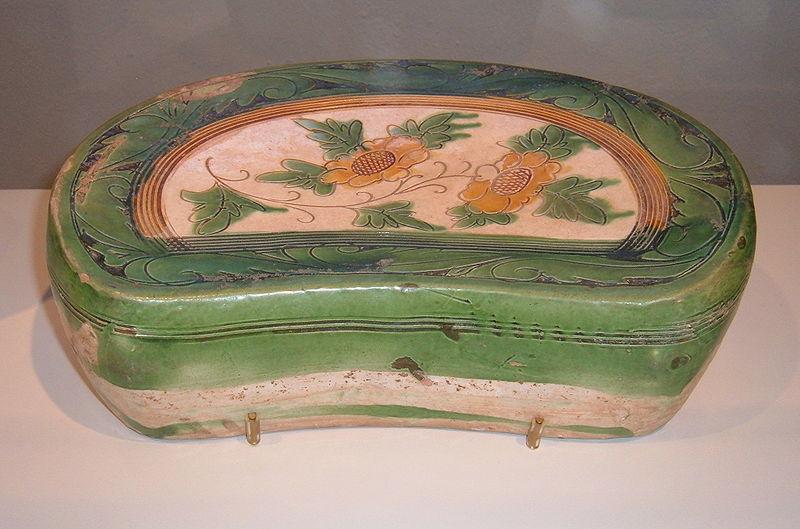 File:Glazed stoneware bean-shaped pillow CAC.JPG