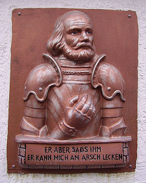 A relief of Götz von Berlichingen in Germany c...