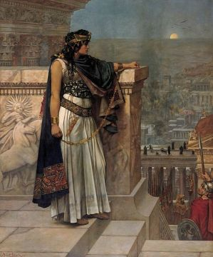 Queen Zenobia's Last Look Upon Palmyra by Herbert Schmalz from Wikipedia