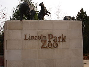 Entrance of Lincoln Park Zoo in Chicago, IL