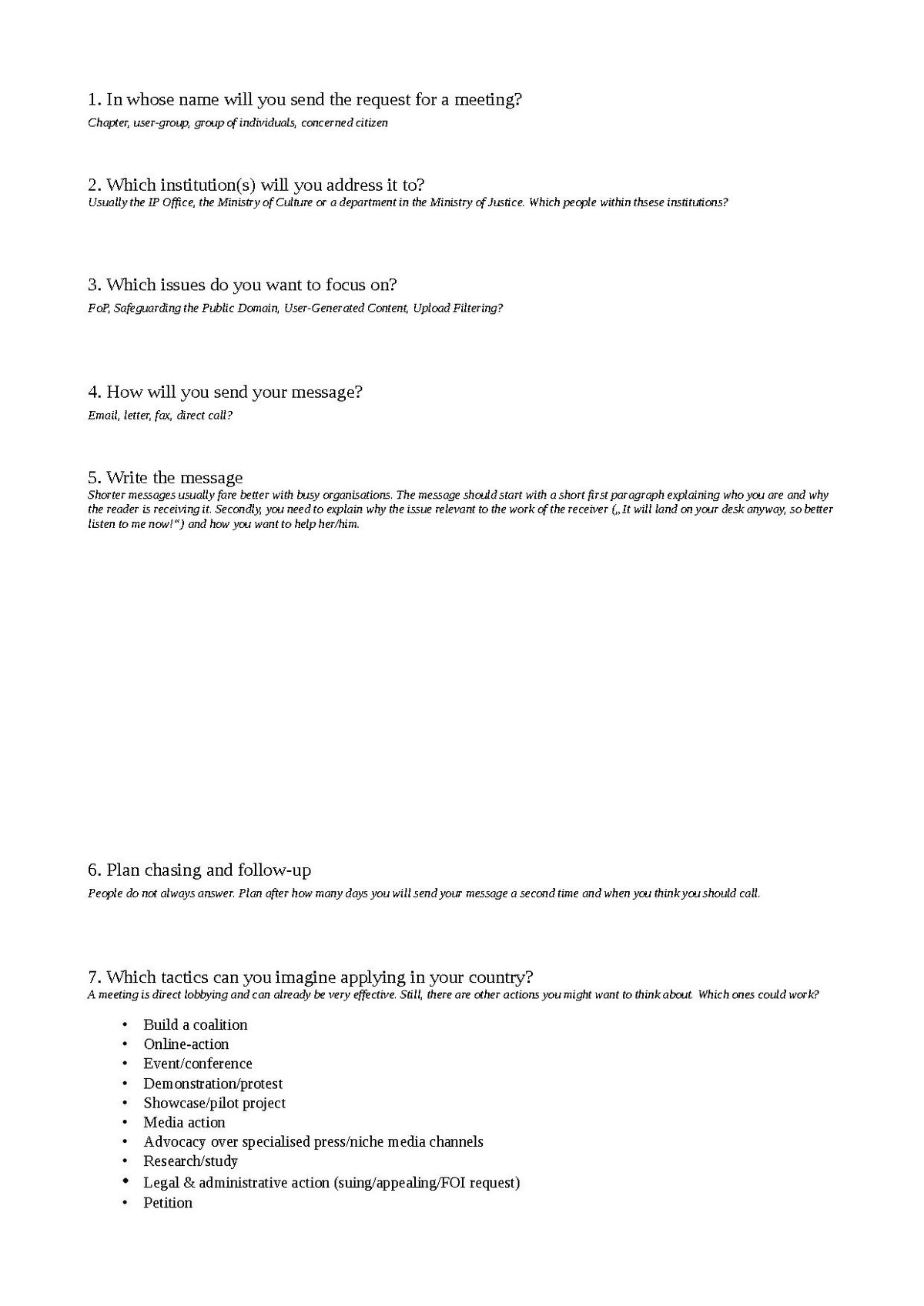 File National Action Plans Worksheet
