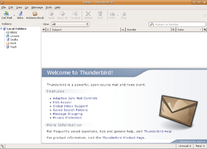 Screenshot of Mozilla Thunderbird 1.5.10 under...