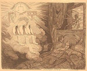 Tom Paine asleep, having a nightmare