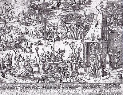 Baile das bruxas na cidade de Trier, Alemanha (1594).