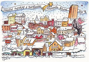 English: Christmas post card Česky: Pohlednice...