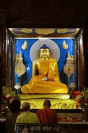 Buddha in Bodh Gaya, India.