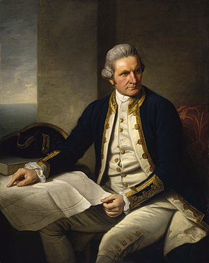 James Cook, portrait by Nathaniel Dance, c. 17...