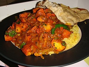 Chicken balti from Delta Indian Takeaway, Edin...